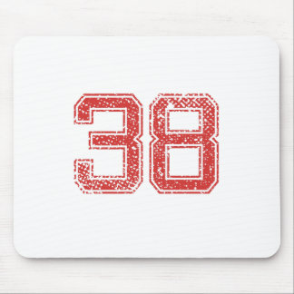 Red Sports Jerzee Number 38 Mouse Pad