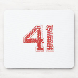 Red Sports Jerzee Number 41 Mouse Pad