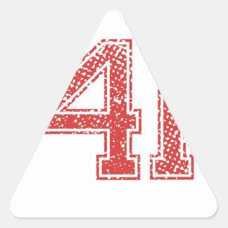 Red Sports Jerzee Number 41 Sticker