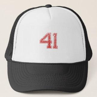Red Sports Jerzee Number 41 Trucker Hat