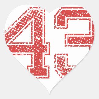 Red Sports Jerzee Number 43 Heart Sticker