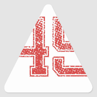 Red Sports Jerzee Number 45 Triangle Stickers