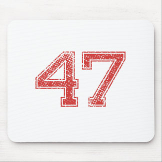 Red Sports Jerzee Number 47 Mouse Pad