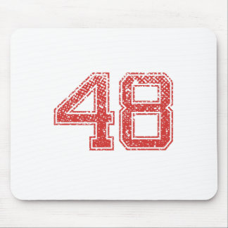 Red Sports Jerzee Number 48 Mouse Pad