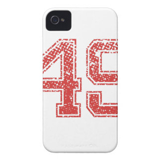 Red Sports Jerzee Number 49 Case-Mate iPhone 4 Case