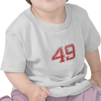 Red Sports Jerzee Number 49 T-shirt