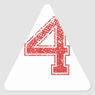 Red Sports Jerzee Number 4 Stickers
