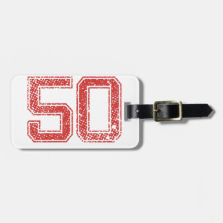 Red Sports Jerzee Number 50 Tag For Luggage