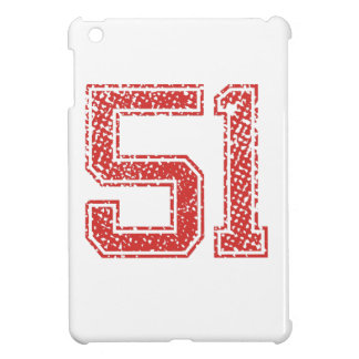 Red Sports Jerzee Number 51 Cover For The iPad Mini