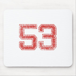 Red Sports Jerzee Number 53 Mouse Pad