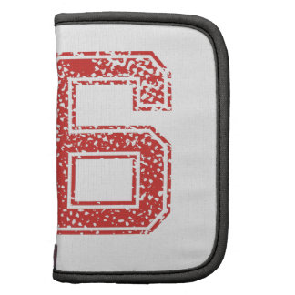 Red Sports Jerzee Number 56 Folio Planner