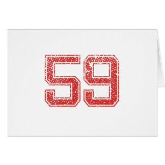 Red Sports Jerzee Number 59 Card