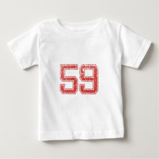 Red Sports Jerzee Number 59 Infant T-shirt
