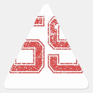 Red Sports Jerzee Number 59 Triangle Sticker