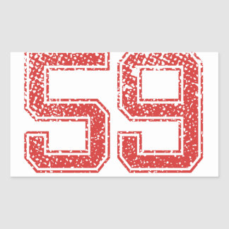 Red Sports Jerzee Number 59 Stickers