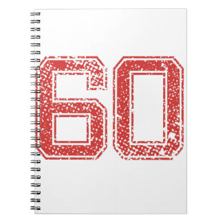 Red Sports Jerzee Number 60 Notebook