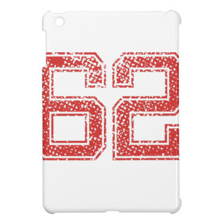 Red Sports Jerzee Number 62 iPad Mini Case