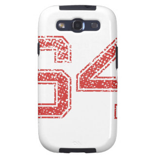 Red Sports Jerzee Number 64 Samsung Galaxy S3 Case