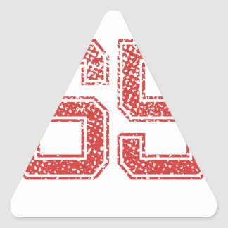 Red Sports Jerzee Number 65 Triangle Stickers