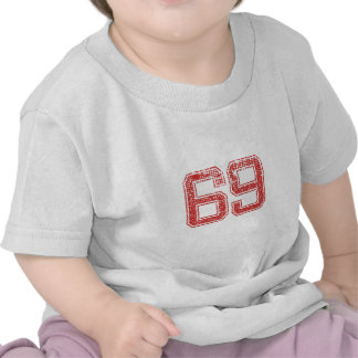 Red Sports Jerzee Number 69 Shirts
