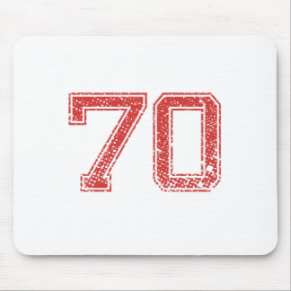 Red Sports Jerzee Number 70 Mouse Pad