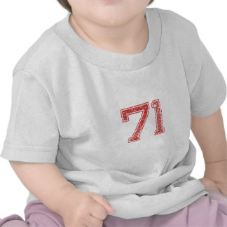 Red Sports Jerzee Number 71 Tee Shirts