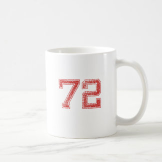 Red Sports Jerzee Number 72 Coffee Mugs