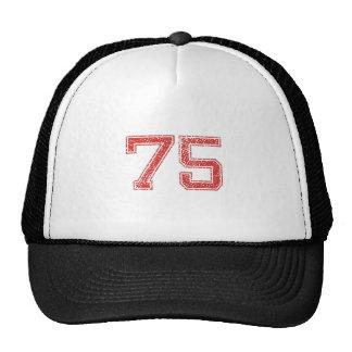 Red Sports Jerzee Number 75 Trucker Hat