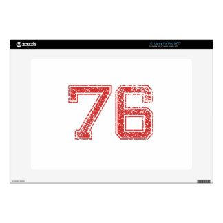 """Red Sports Jerzee Number 76 Skins For 15"""" Laptops"""