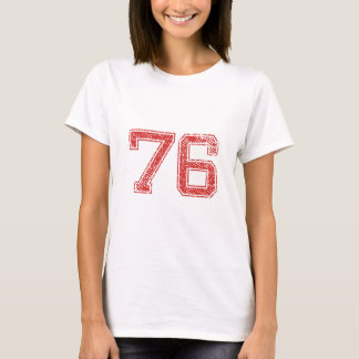 Red Sports Jerzee Number 76 T-Shirt