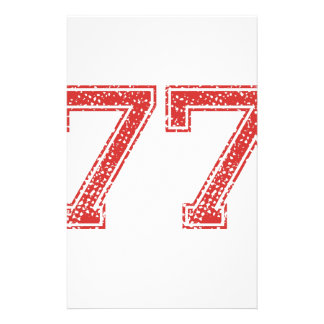 Red Sports Jerzee Number 77 Stationery Design