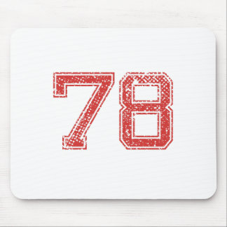 Red Sports Jerzee Number 78 Mouse Pad