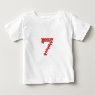 Red Sports Jerzee Number 7 Baby T-Shirt