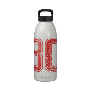 Red Sports Jerzee Number 80 Drinking Bottles