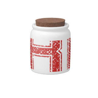 Red Sports Jerzee Number 81 Candy Dish
