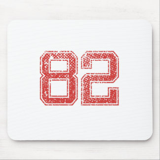 Red Sports Jerzee Number 82 Mouse Pad
