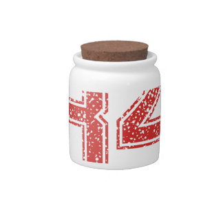 Red Sports Jerzee Number 84 Candy Jar