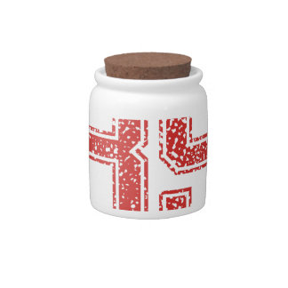 Red Sports Jerzee Number 85 Candy Jar