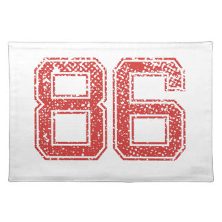 Red Sports Jerzee Number 86 Cloth Placemat