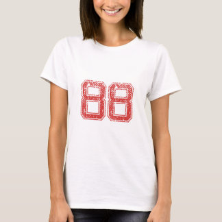 Red Sports Jerzee Number 88 T-Shirt