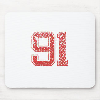 Red Sports Jerzee Number 91 Mouse Pad
