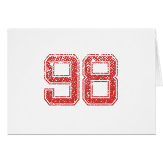 Red Sports Jerzee number 98 Card