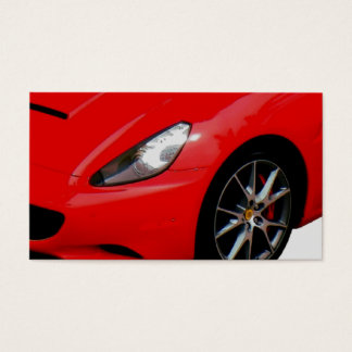 ~Red Sportscar~ BUSINESS CARD, CUSTOMIZE IT! Business Card