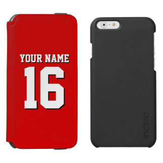 Red Sporty Team Jersey iPhone 6/6s Wallet Case