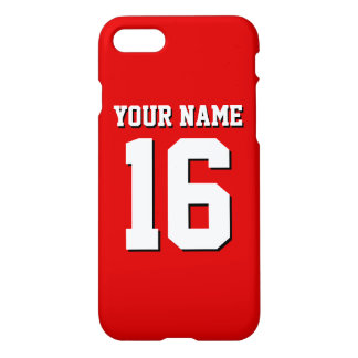 Red Sporty Team Jersey iPhone 8/7 Case