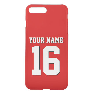 Red Sporty Team Jersey iPhone 8 Plus/7 Plus Case