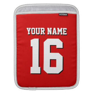 Red Sporty Team Jersey Sleeve For iPads