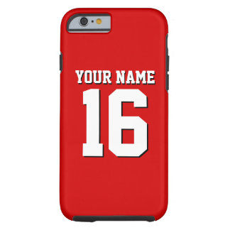 Red Sporty Team Jersey Tough iPhone 6 Case