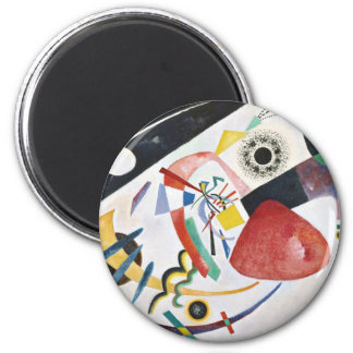 Red Spot 2 Inch Round Magnet