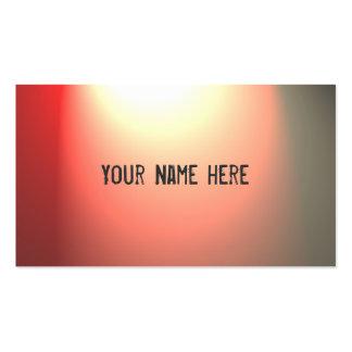 Red spotlight customizable business cards